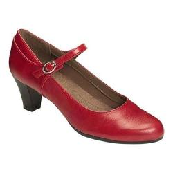 Women's A2 by Aerosoles For Shore Mary Jane Pump Red Faux Leather