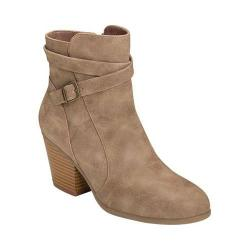Women's A2 by Aerosoles Invitation Ankle Bootie Taupe Faux Leather/Suede