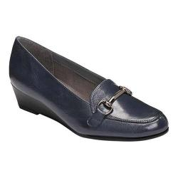 Women's A2 by Aerosoles Love Spell Loafer Navy Faux Leather