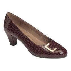 Women's A2 by Aerosoles Shore Fire Pump Wine Croco Print Faux Leather