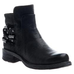 Women's OTBT Highstreet Biker Boot Black Leather