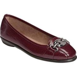 Women's A2 by Aerosoles In Between Flat Wine Snake Faux Leather