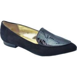 Women's Bellini Frances Loafer Black Croc Microsuede