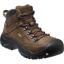 Men's Keen Utility Braddock Mid All Leather Steel Toe Boot Bison/Ensign Blue