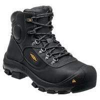Men's Keen Utility Leavenworth 6in Steel Toe Internal Met Guard Boot Black