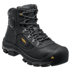 Men's Keen Utility Leavenworth 6in Steel Toe Internal Met Guard Boot Black