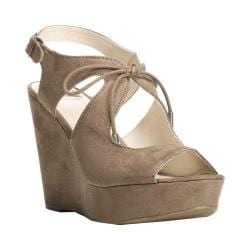 Women's Fergalicious Vicky Wedge Sandal Chateau Grey Synthetic Suede