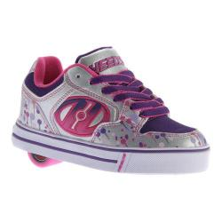 Children's Heelys Motion Plus Roller Shoe Silver/Pink/Purple/Drip