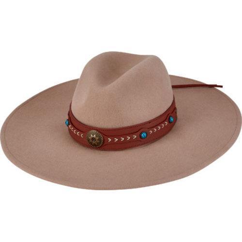 Women's San Diego Hat Company Wool Felt Fedora WFH8018 Camel