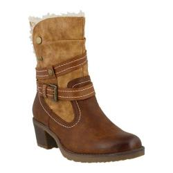 Women's Spring Step Boisa Ankle Boot Medium Brown Synthetic