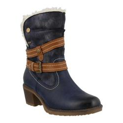 Women's Spring Step Boisa Ankle Boot Navy Synthetic