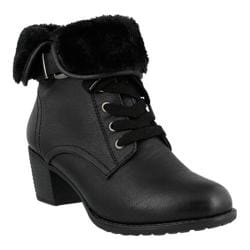 Women's Spring Step Liona Ankle Boot Black Synthetic