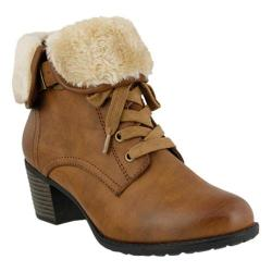Women's Spring Step Liona Ankle Boot Medium Brown Synthetic