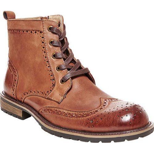 6938ee0ea41 Men's Steve Madden Sprocket Wing Tip Boot Tan Leather
