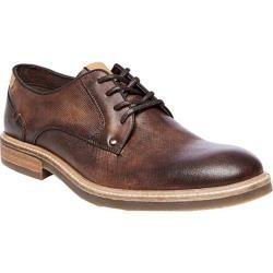 Men's Steve Madden Bentley Plain Toe Oxford Brown Leather