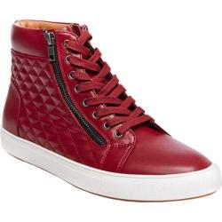 Men's Steve Madden Quodis Quilted High Top Red Synthetic