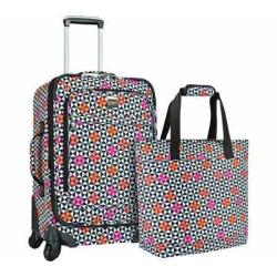 US Traveler Langford 2-Piece Luggage Set Checker