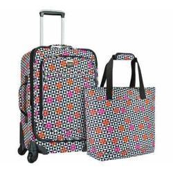 US Traveler Langford 2-Piece Luggage Set Checker