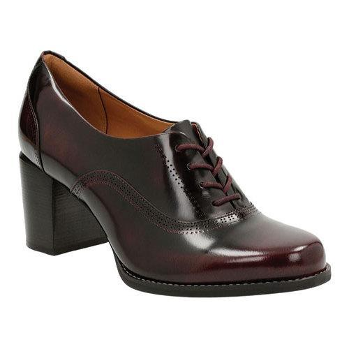 Women's Clarks Tarah Victoria Formal Shoe Burgundy Leather