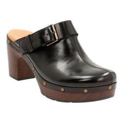 Women's Clarks Ledella York Clog Black Leather