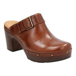 Women's Clarks Ledella York Clog Tan Leather