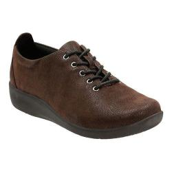 Women's Clarks Sillian Tino Oxford Dark Brown Synthetic Nubuck