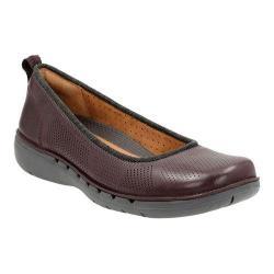 Women's Clarks Un Elita Slip-On Aubergine Leather