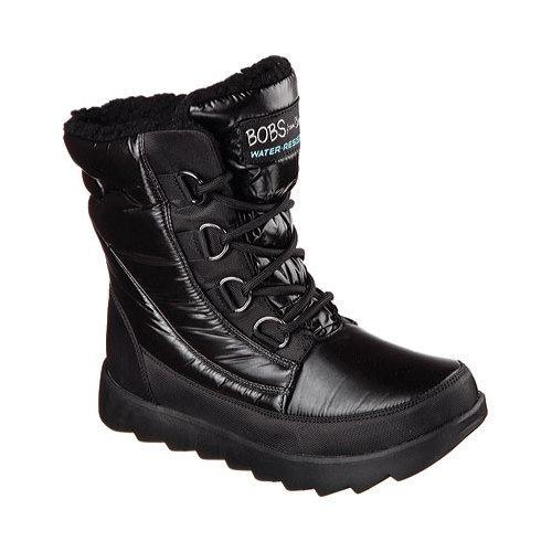 Shop Women s Skechers BOBS Mementos Snow Cap Cold Weather Boot Black - Free  Shipping Today - Overstock - 12690071 075407bea044