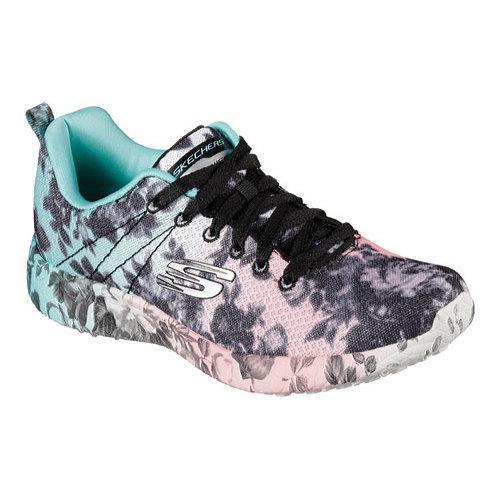 14c04e8ad9ad Shop Women s Skechers Burst Wild Rose Sneaker Black Multi - Free Shipping  On Orders Over  45 - Overstock - 12690088