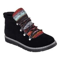 Women's Skechers BOBS Alpine Smores Ankle Boot Black