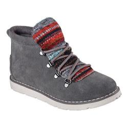 Women's Skechers BOBS Alpine Smores Ankle Boot Charcoal