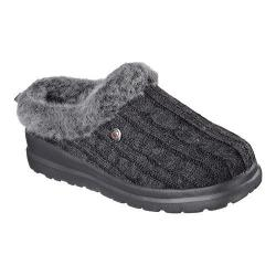 Women's Skechers BOBS Cherish Bunny Hill Clog Slipper Charcoal