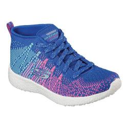 Girls' Skechers Burst Sweet Symphony High Top Blue/Hot Pink