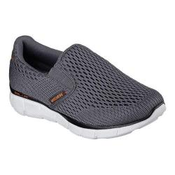 Boys' Skechers Equalizer Double Play Slip On Shoe Charcoal/Black
