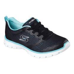 Women's Skechers EZ Flex 3.0 Ready To Roll Sneaker Black/Aqua