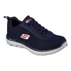 Men's Skechers Flex Advantage 2.0 Golden Point Training Shoe Navy/Red