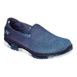 Women's Skechers GO FLEX Walk Muse Slip On Walking Shoe Navy/Gray