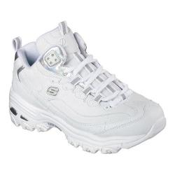 Women's Skechers D'Lites Style Rethink High Top Training Shoe White/Silver