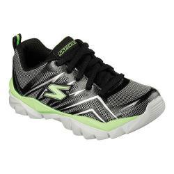 Boys' Skechers Electronz Pit Stop Sneaker Black/Lime