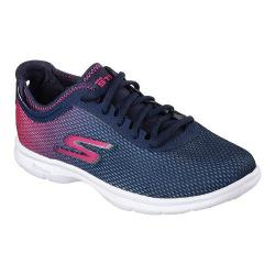 Women's Skechers GO STEP Cosmic Walking Shoe Navy/Pink