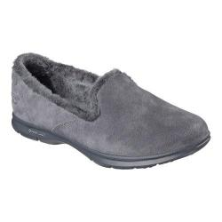 Women's Skechers GO STEP Velvety Slip On Charcoal