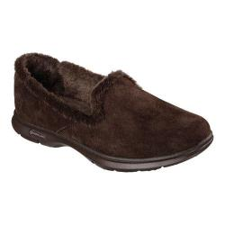 Women's Skechers GO STEP Velvety Slip On Chocolate