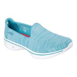 Women's Skechers GOwalk 4 Satisfy Slip On Walking Shoe Turquoise