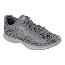 Women's Skechers GO STEP Wild Walking Shoe Charcoal
