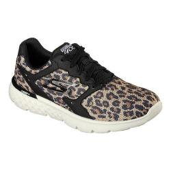 Women's Skechers GOrun 400 Running Shoe Black/Natural Leopard