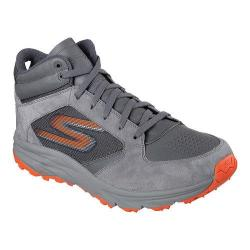 Men's Skechers GOtrail Odyssey High Top Running Shoe Charcoal/Orange