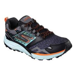 Women's Skechers GOtrail Running Shoe Black/Aqua