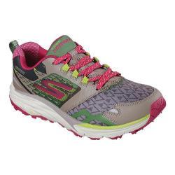 Women's Skechers GOtrail Running Shoe Taupe/Pink