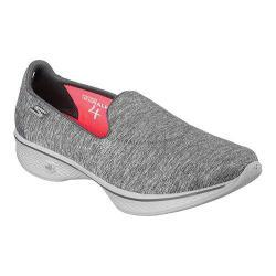 Women's Skechers GOwalk 4 Achiever Slip On Walking Shoe Gray