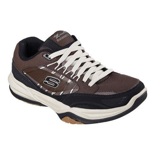 3595312bfad4 Shop Men s Skechers Monaco TR Training Shoe Brown Black - Free Shipping  Today - Overstock.com - 12690224